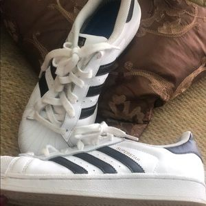 Adidas Classic Superstar Sneakers,7 1/2 runs large
